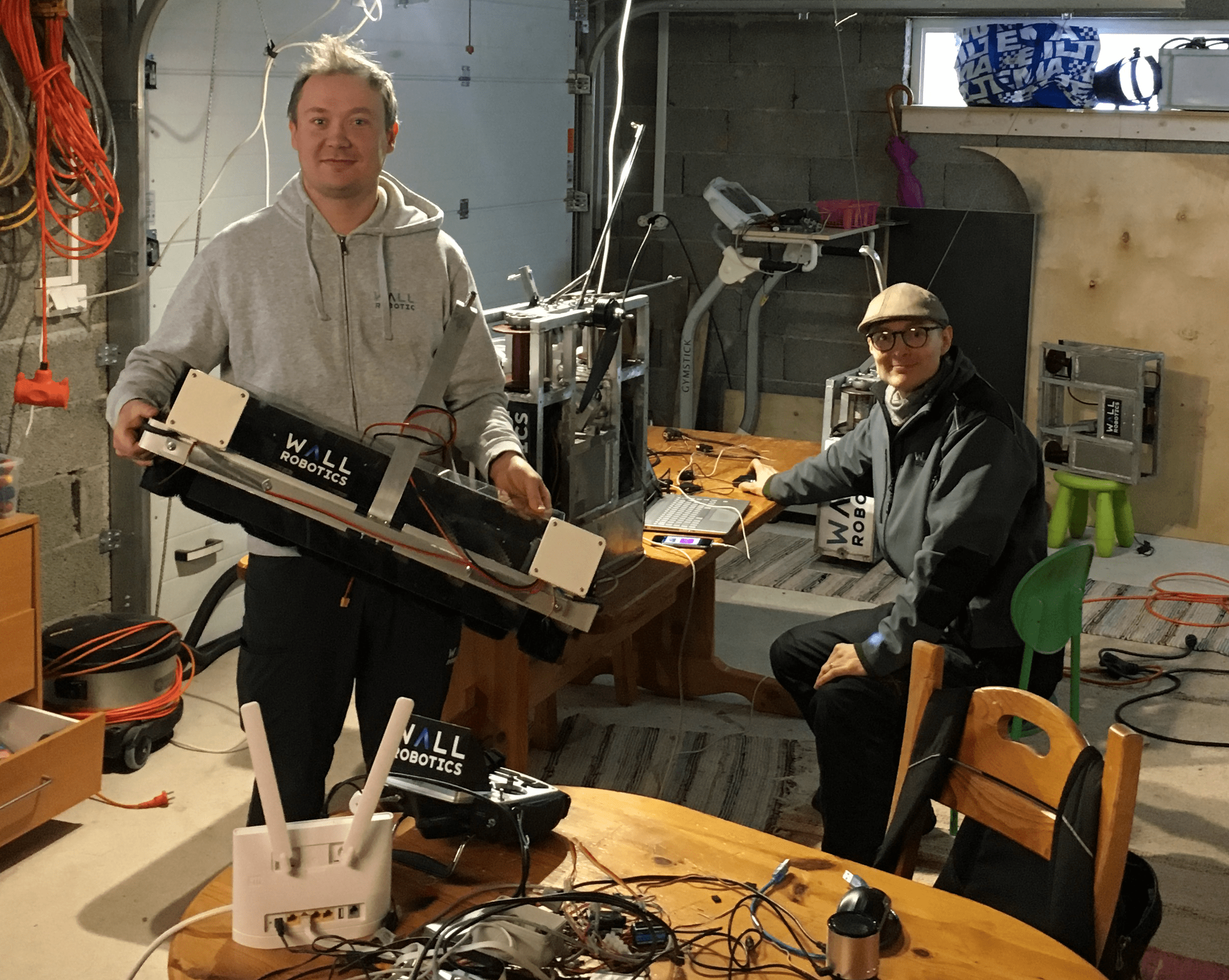 Mikko Valtonen and Petteri Kontio in their manufacturing facilities in Espoo.
