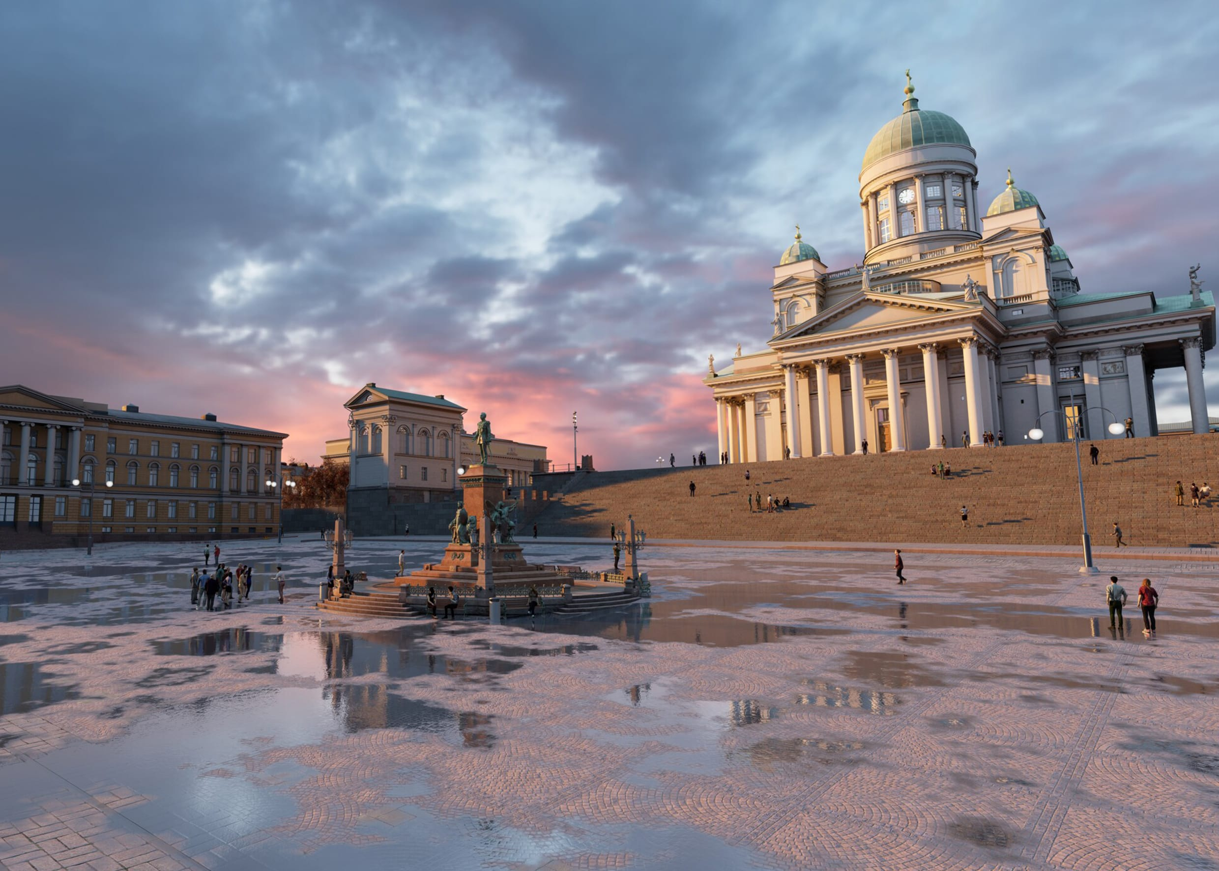 Virtual Helsinki Senate square